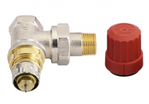 Клапан для терморегулятора угловой, Danfoss
