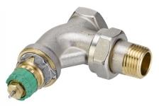Динамичный клапан терморегулятора, угловой, Danfoss