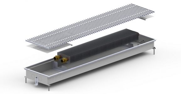 Внутрипольный конвектор Carrera С (М) без вентилятора