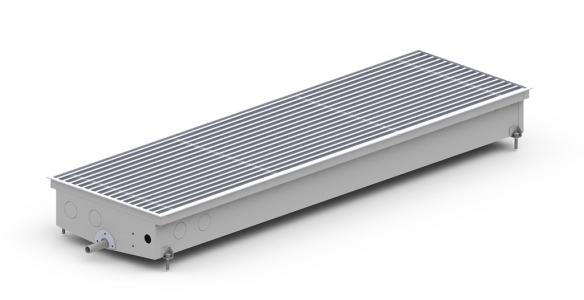 Внутрипольный конвектор Carrera CV2-Hydro (для бассейнов) с вентилятором