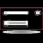 Внутрипольный конвектор Carrera 4S Black (без вентилятора)