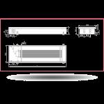 Внутрипольный конвектор Carrera 4S2 Black (без вентилятора)