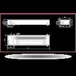 Внутрипольный конвектор Carrera 4SV Black (c вентилятором)