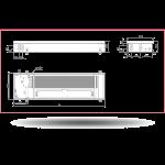 Внутрипольный конвектор Carrera 4SV2 Black (c вентилятором)