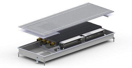 Внутрипольный конвектор Carrera MV2 Inox 65 с вентилятором