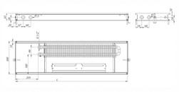 Внутрипольный конвектор Carrera MV Inox 65 с вентилятором
