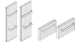 Вертикальная нагревательная стенка Kermi HVV 10 тип, нижнее подключение.