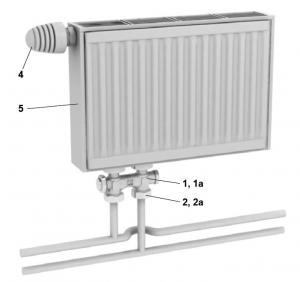 Стальной радиатор  Newstar, нижнее подключение