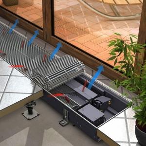 Внутрипольный конвектор Тeplobrend Мini с вентилятором
