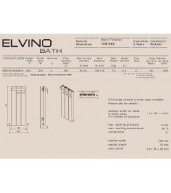 Полотенцесушитель водяной Carisa ELVINO BATH