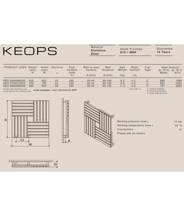 Дизайн радиатор Carisa KEOPS