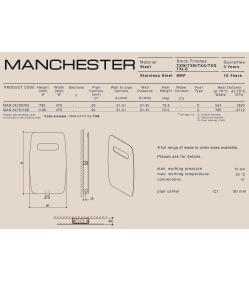 Дизайн радиатор Carisa MANCHESTER (SS)