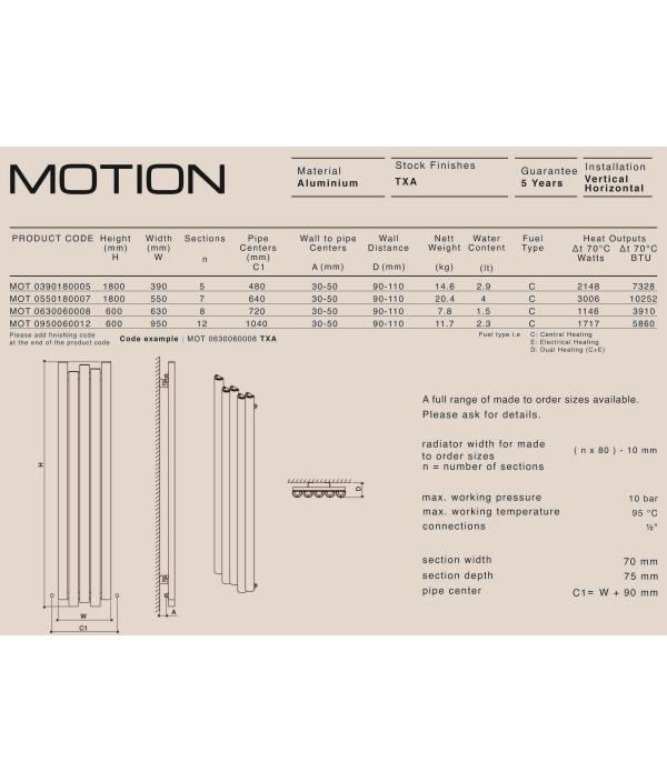 Дизайн радиатор Carisa MOTION V