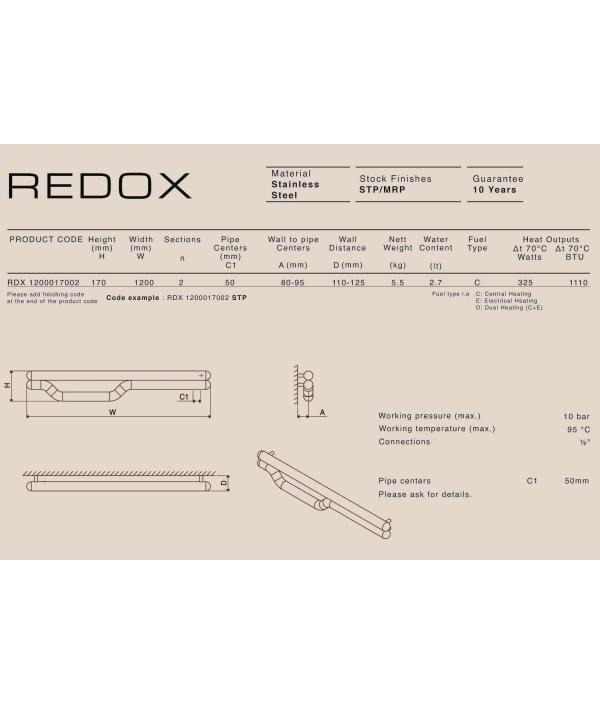 Полотенцесушитель водяной Carisa REDOX