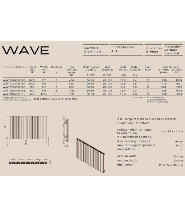 Дизайн радиатор Carisa WAVE V