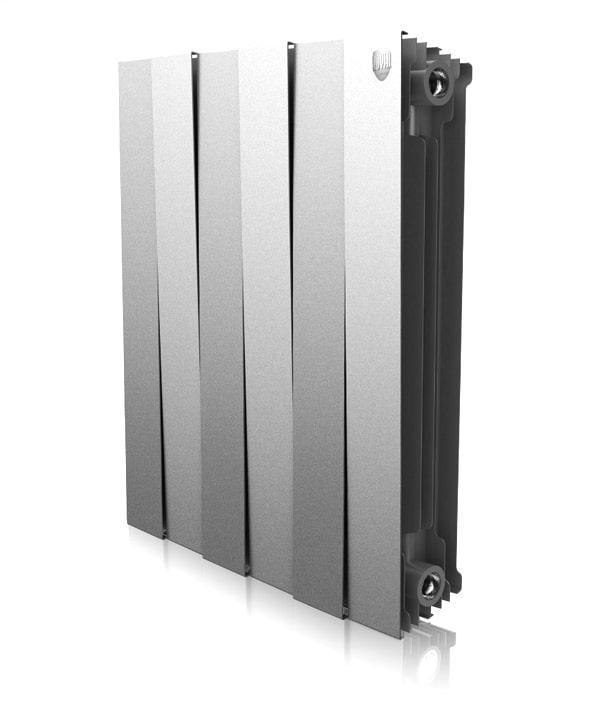 Биметаллический дизайн радиатор ROYAL THERMO Piano Forte Silver Satin