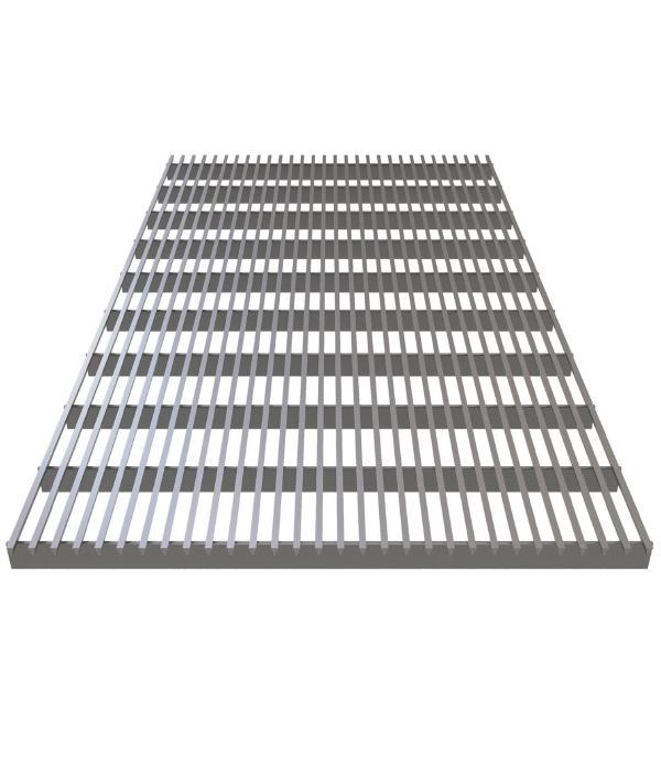 Решетка алюминиевая Verano продольная жесткая для VKN1