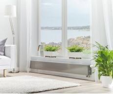 Низкие радиаторы отопления для панорамных окон: в чем преимущества и какие выбрать?