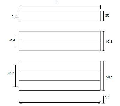 высота и длина Loft O