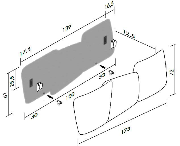 Высота и ширина ANTRAX Scudi V