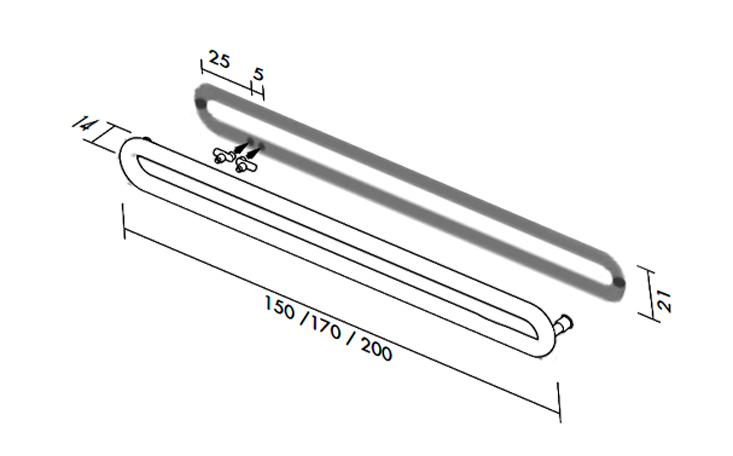 Высота и длина Tubone