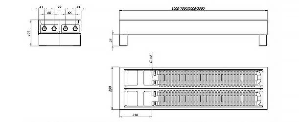Схема напольного конвектора FR2H
