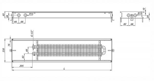 Схема конвектора Carrera M (С) Black 65