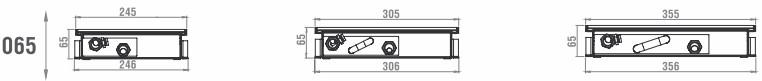 Высота внутрипольного конвектора HITTE NXX 065