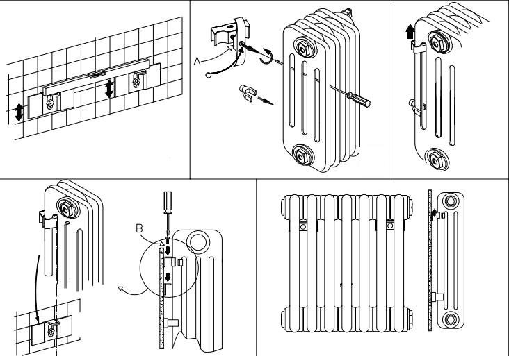 Установка трубчатого радиатора IRSAP
