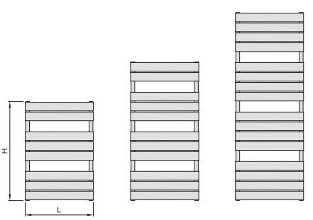 высота и длина Atria