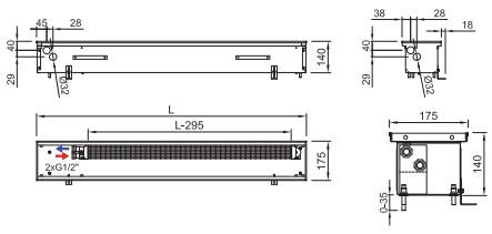 Схема конвектора ISAN FRK 140 175