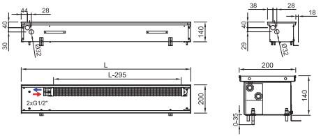 Схема конвектора ISAN FRK 140 200
