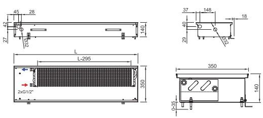 Схема конвектора ISAN FRK 140 350