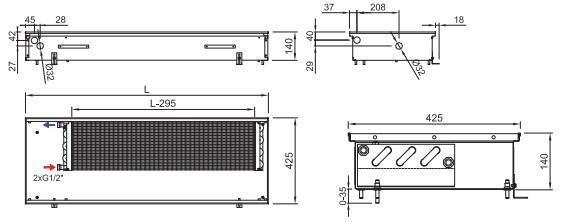 Схема конвектора ISAN FRK 140 425