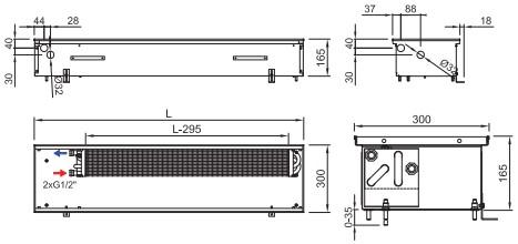 Рисунок внутрипольного конвектора ISAN FRK 165 300