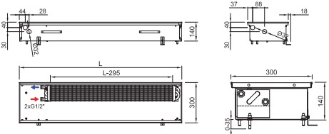Схема конвектора ISAN FRK 140 300