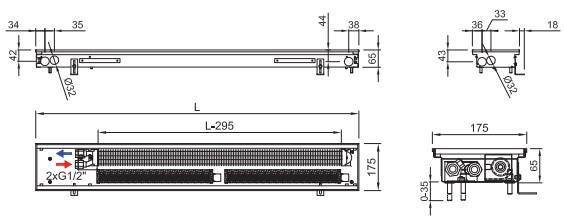 Внутрипольный конвектор ISAN FRT 065 175