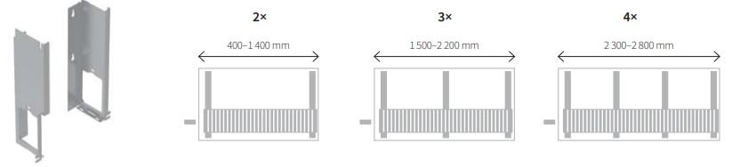 Крепление для настенного конвектора LSK