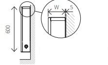 Размер настенного конвектора CUBE LSK 600