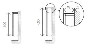 Размеры настенного конвектора TST
