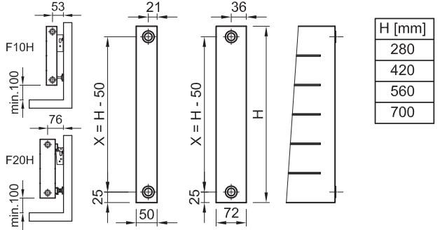 Схема радиатора EXACT F10H