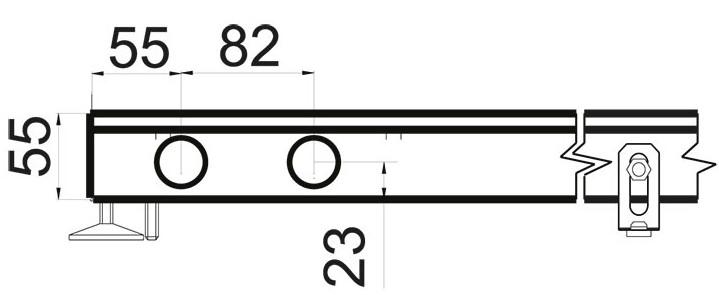 Чертеж конвектора Polvax KEM 330 55