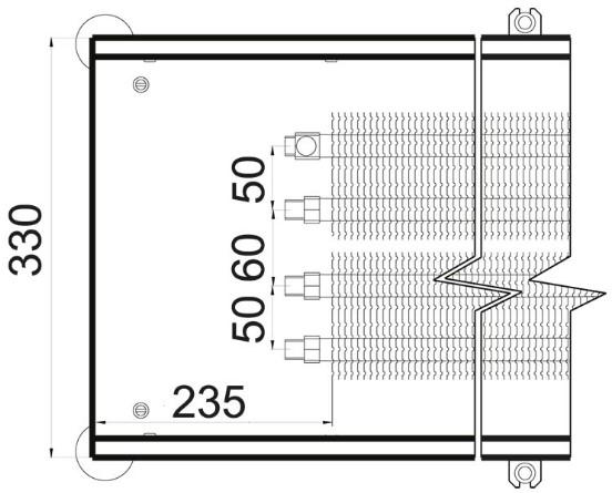 Схема конвектора в пол KEM 330 55