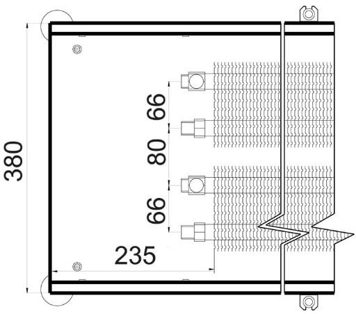 Батарея в пол Polvax KEM 380 - 90 схема
