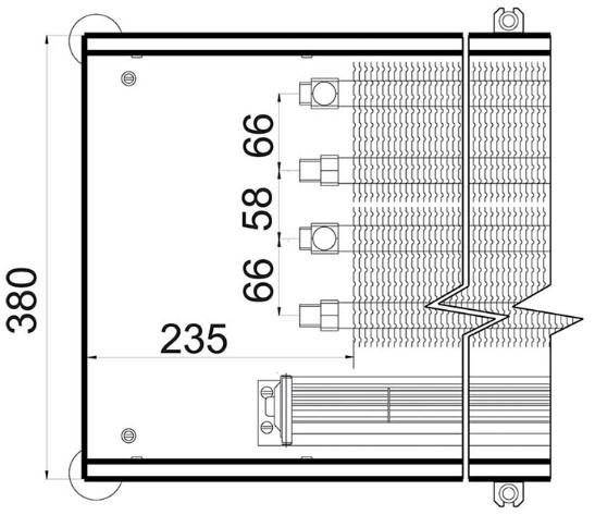 Рисунок внутрипольного конвектора Polvax 380 90