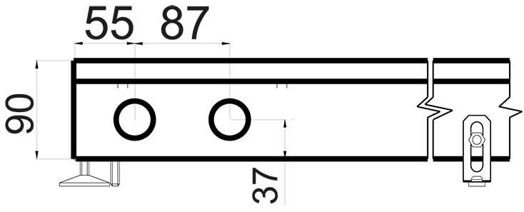 Схема конвектора в полу Polvax KV 300 90