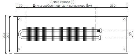 Cхема конвектора Verano VK15 ширина 274