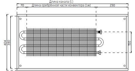 Cхема конвектора Verano VK15 ширина 404