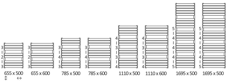 Размеры Warp T
