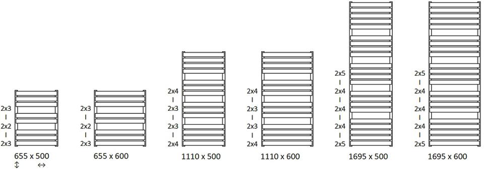 Размеры Warp T Bold